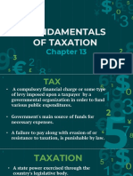 Chapter 13 Fundamentals of Taxation