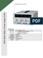 Matrix MPS-3003-5L-3 DC Power Supply Manual