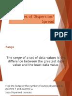 Measures of Dispersion. GEC 104