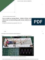 How to Build an Analog Mixer - Additive Mixer and Multiplicative Mixer