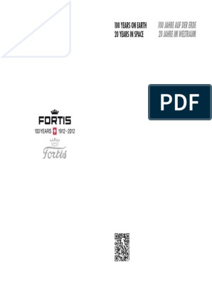 FORTIS Catalogue 100Y