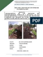 EMS Con Fines de Pavimentacion RINCONADA