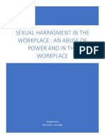 Sexual Harrasment in the Workplace, Power and Politics