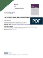 The Gospel of Jesus' Wife Constructing a Context - Simon Gathercole.pdf
