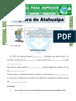 Ficha Captura de Atahualpa Para Tercero de Primaria