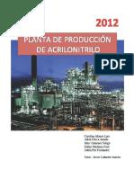 Planta de producción de acrilonitrilo