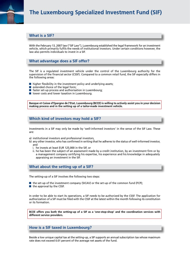 BCEE SIF EN JAN 2008 (1) | Economies | Financial Services