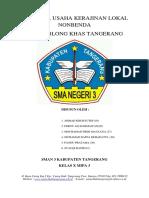 Proposal Usaha Kerajinan Usaha Non Benda Kaos Oblong Khas Banten