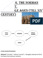 norman conquest + middle ages till XIV