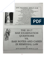 Remedial Law 2017 Bar q and a - Atty. Mo
