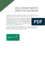 7 Tips Para Lograr Mayor Engagement en Facebook
