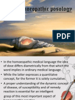 Homoeopathic Posology