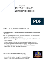Bus Ethics as Foundation for Csr