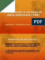 Introducción a Los Tipos de Datos Abstractos