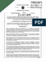 Decreto 1916 Del 21 de Octubre de 2019 - Ministerio del Interior