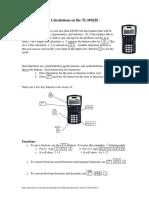 TI30XIIS Instructions