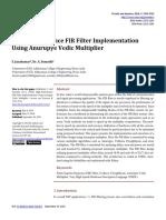 High-Performance FIR Filter Implementation Using a (1)