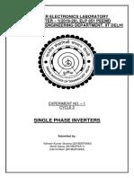 Cycle 2 Exp 1 Single Phase Inverter