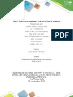 Paso 2. Seleccionar Empresa y Realizar El Plan de Auditoría