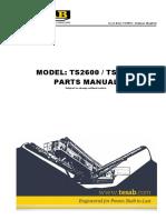 TS2600 - TS3600 Parts Manual 11-2016