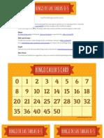 Bingo de las Tablas