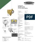 Sensor Ultrasónico QT50U Con Salidas Digitales