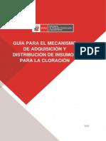 GUIA PARA EL MECANISMO Y DISTRIBUCION DE INSUMOS PARA LA CLORACION