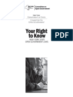 Your Right  to Know  New York State  Open Government Laws