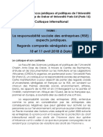 Colloque International Sur La Responsabilité Sociale de Lentreprise -RSE_2018