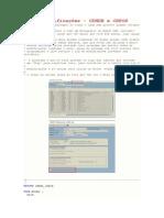 Log de Modificações - CDHDR e CDPOS