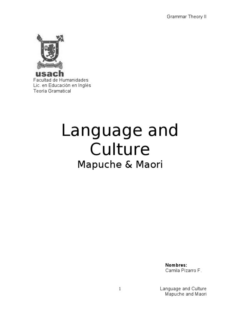 Discrimination Through Languaje And Comparison Between Mapuche And