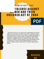 Anti- Violence Against Women and Their Children Act