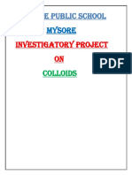 colloids investigatory project class12