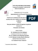1 Control en La Residencia de Obra Para Optimizar La Construcción de Un Edificio de Viviendas en La Ciudad de México (1)