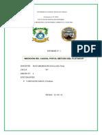 Informe Medicion Del Caudal Por El Metodo Del Flotador