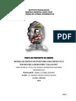 SISTEMA DE GESTION DE INVENTARIO PARA PRODUCTO E INSUMOS DEL LABORATORIO