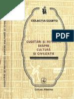 @@@ - Cugetari Si Reflectii Despre Cultura Si Civilizatie - Albatros, 1984 481 Pag