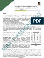 Org Behavior MB0038-22 Mba1 Nupur