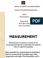 BME UNIT II Measurement