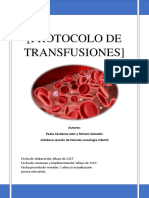 Protocolo transfusiones
