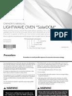 LG Solar Dome Manual