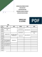 UNEXPO VRP Horario Ing. Electrónica Lapso 2019-2