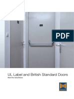 UL Label and British Standard Doors En