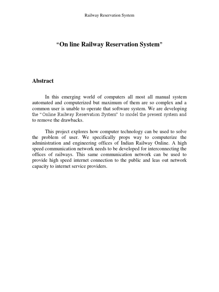 Online railway reservation system report use case unit testing ccuart Image collections