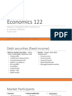 Econ 122 Lecture 5 Debt Securities 1