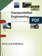 Lec 1 Introduction Transportation Engineering Millan