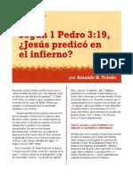 ¿Jesús predicó en el infierno?_Armando H. Toledo