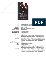 [Tyrus Miller] Late Modernism_ Politics Fiction and the Arts Between the World Wars -University of California Press (1999)