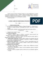 Acord cadru de parteneriat pentru educaţie