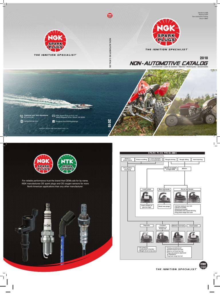 "NGK DPR8EA-9 Spark Plug 12mm Thread 3//4/"" Reach for Grizzly 660 Rhino 660 4929"